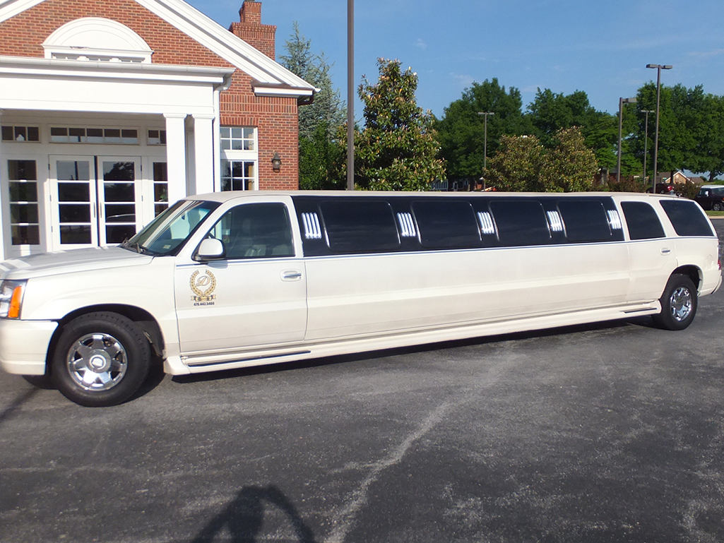 White Escalade Limo