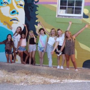 Girls at the Mural
